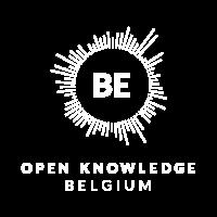 Open Belgium white logo